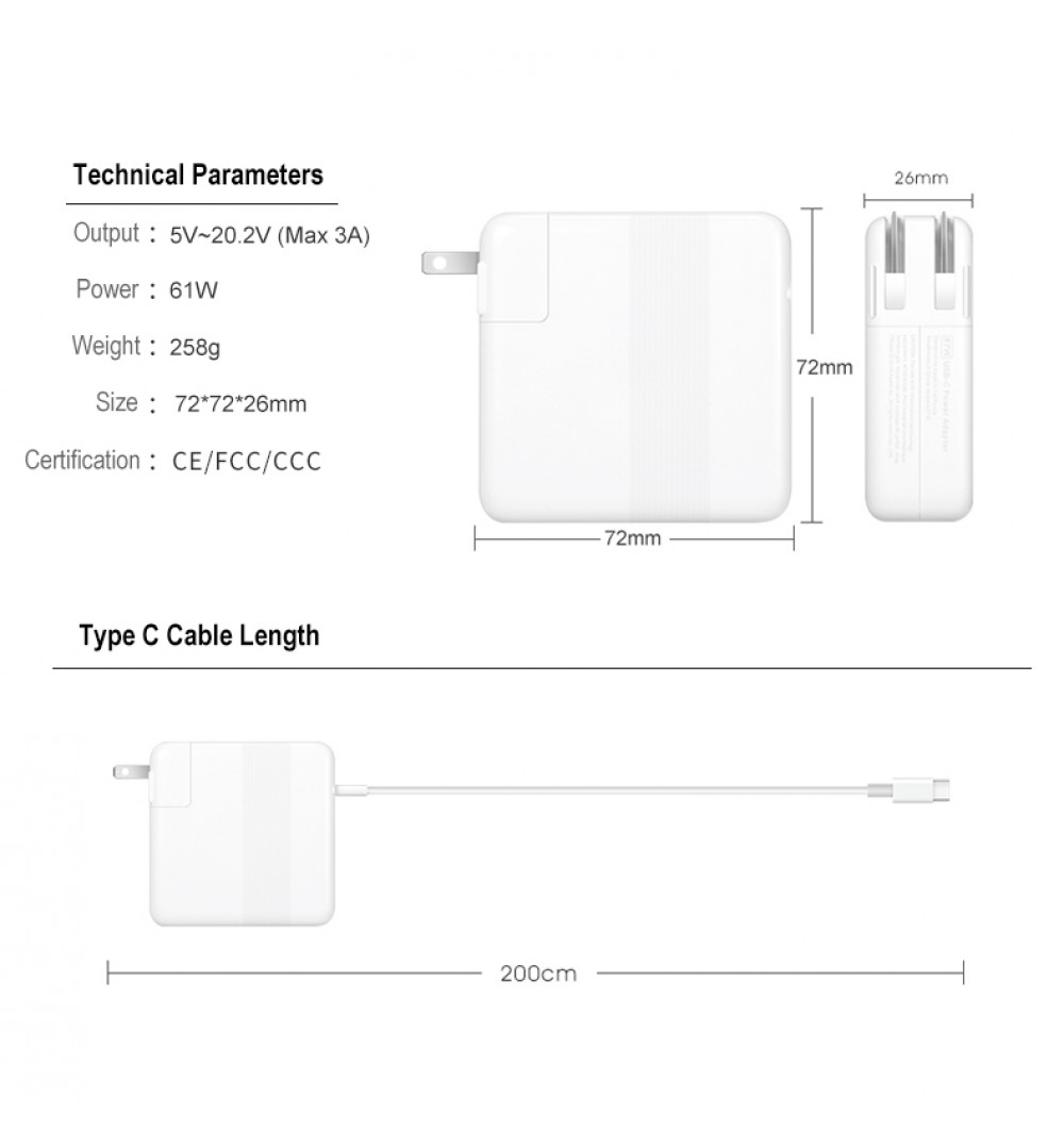 BatPower|A61W USB-C Charger