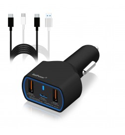 120W UL Listed CPD2-B Universal PD USB-C Car Charger