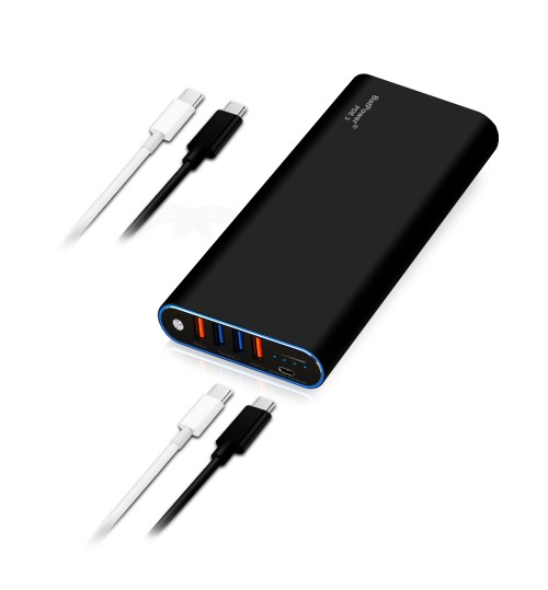 BatPower 26800mAh PD 87W Power Delivery External Battery Power Bank Portable Charger for USB C MacBook Pro/Air Apple Laptop Notebook, iPad Pro iPhone 11 Pro X XR XS Max 8 and more (TSA-Approved 98Wh)