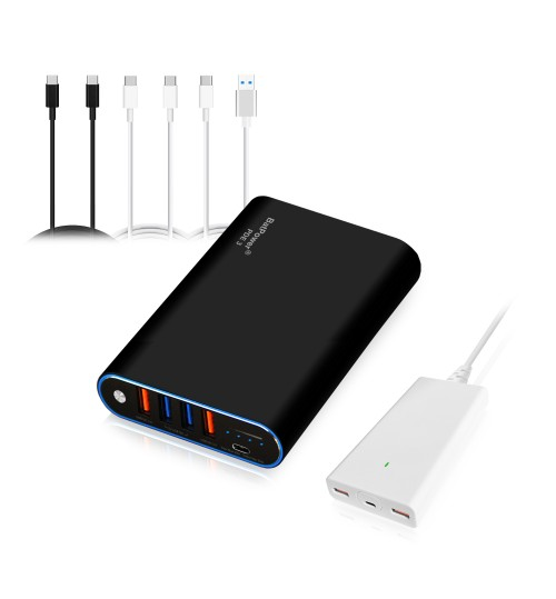 75Wh PDE 3 P075 Universal Laptop 20000mAh PD USB-C Power Bank External Battery Portable Charger