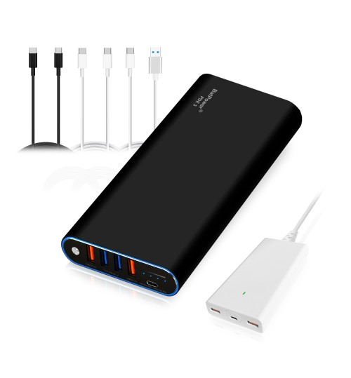 BatPower 40000mAh PD 87W with 120W PD Charger, Power Delivery External Battery Power Bank Portable Charger Bundle for USB C MacBook Pro/Air Apple Laptop iPad iPhone 11 Pro X XS Max 8... (PDE3 / 148Wh)