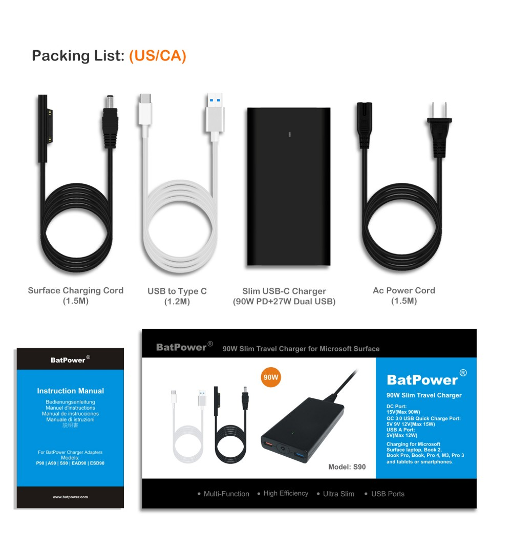 batpower s90 15v 90w charger